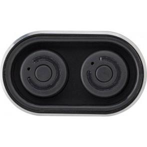 Powerbank met twee draadloze oortelefoons