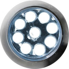 Aluminium zaklamp met 9 LED 'Master'