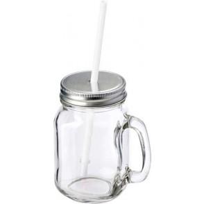 Glas met rietje 'Retro'