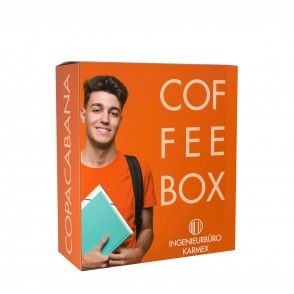 CoffeeBag presenteerbox met 5 filter (1 soort) - presenteerbox en CoffeeBags met met individuele design