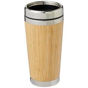 Bambus 450 ml beker met buitenzijde van bamboe