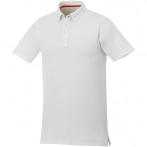 Atkinson button-down heren polo met korte mouwen