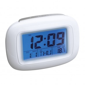 Wekker met thermometer REFLECTS-DILI WHITE