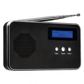Draagbare digitale radio FM / DAB + REFLECTS-BARCELOS BLACK SILVER