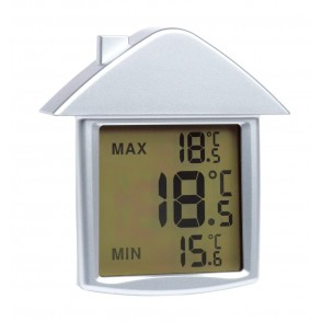 ThermometerComfort w/suction cup,silve