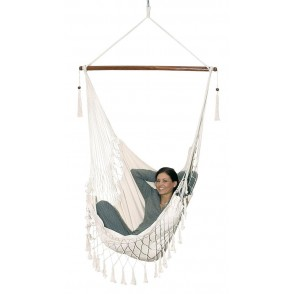 Hanging chair, cotton, nature Hang out
