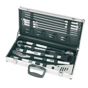 BBQ set with silver case Summer season