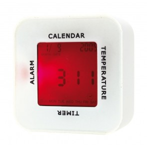 Table alarm clock 4 in 1 white
