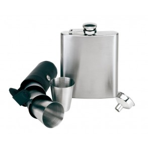 Hip flask set, 7 pcs. Gentleman