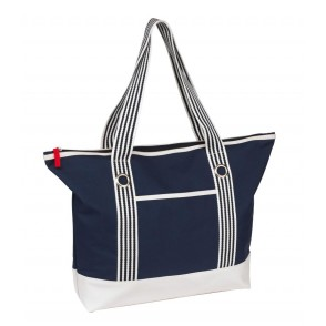 shopper Marlene, 300D,navy blue/white