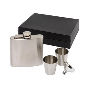 Hip flask set, 4 pcs. Cowboy