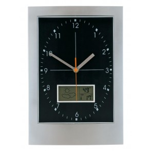 Wallclock w/ hygro-/thermom.Apollo