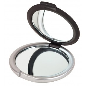 Cosmetic mirror  Magnify, silver/black