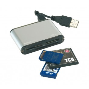 35-in-1 card reader in alu housing