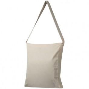 Katoenen tas met hengsel en verstevigend bodemplaatje