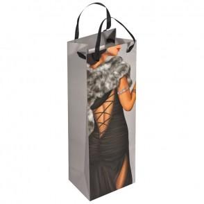 Geschenkverpakking man/vrouw voor een wijnfles