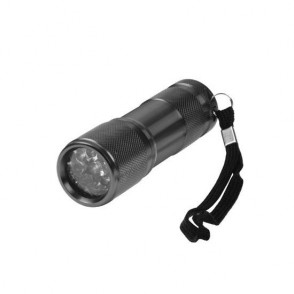 Aluminium zaklamp, 9 LED (wit)