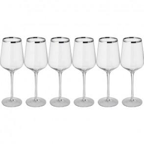 Set 6 witte wijnglazen
