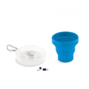 Opvouwbare siliconen beker CUP PILL