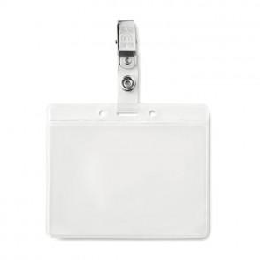 Badge holder PVC CLIPBADGE