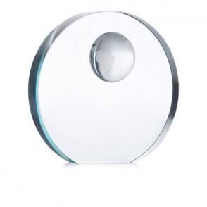 Glazen trofee met wereldbol MONDAL