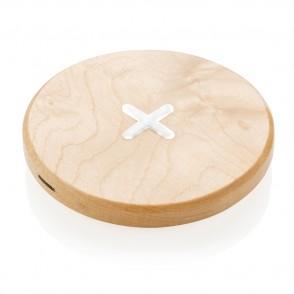 5W houten draadloze oplader, bruin
