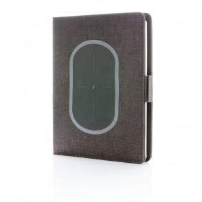 Air draadloos oplader notitieboek omslag A5, zwart