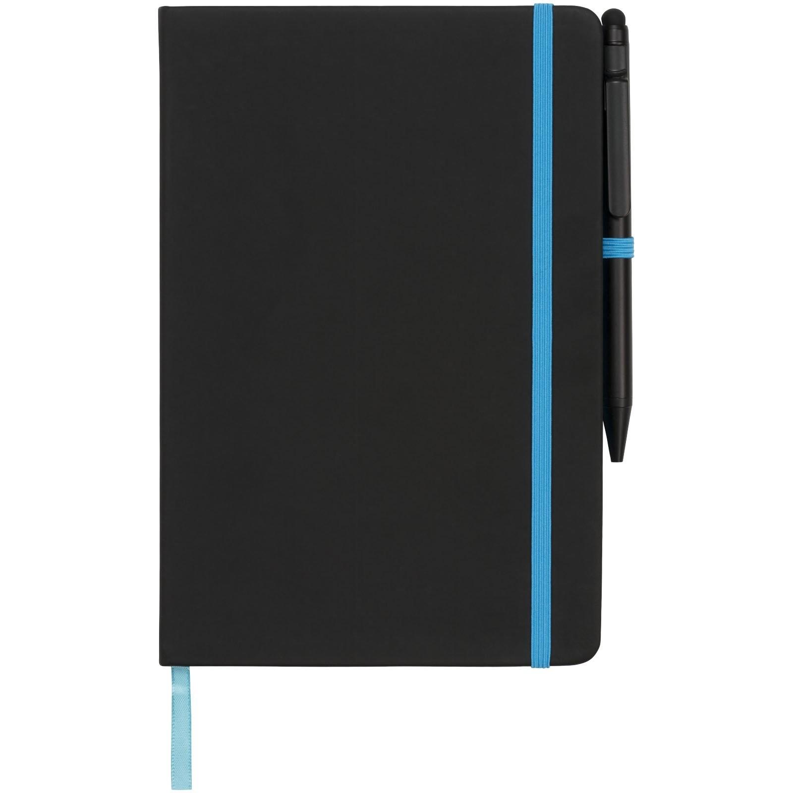 A5 schwarzes Notizbuch mit farbigem Rand, Ansicht 4