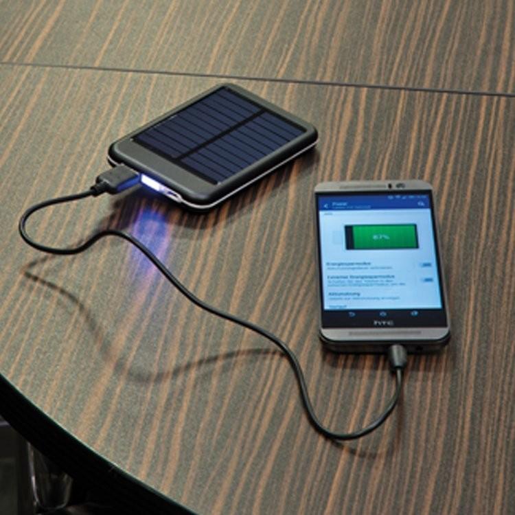 Solar Powerbank aus Metall 4000 mAh, Ansicht 2