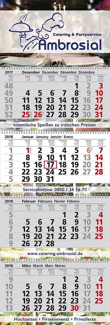 Mehrblock-Wandkalender Exclusiv 4