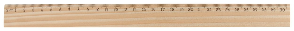 Lineal aus Holz ThreeO