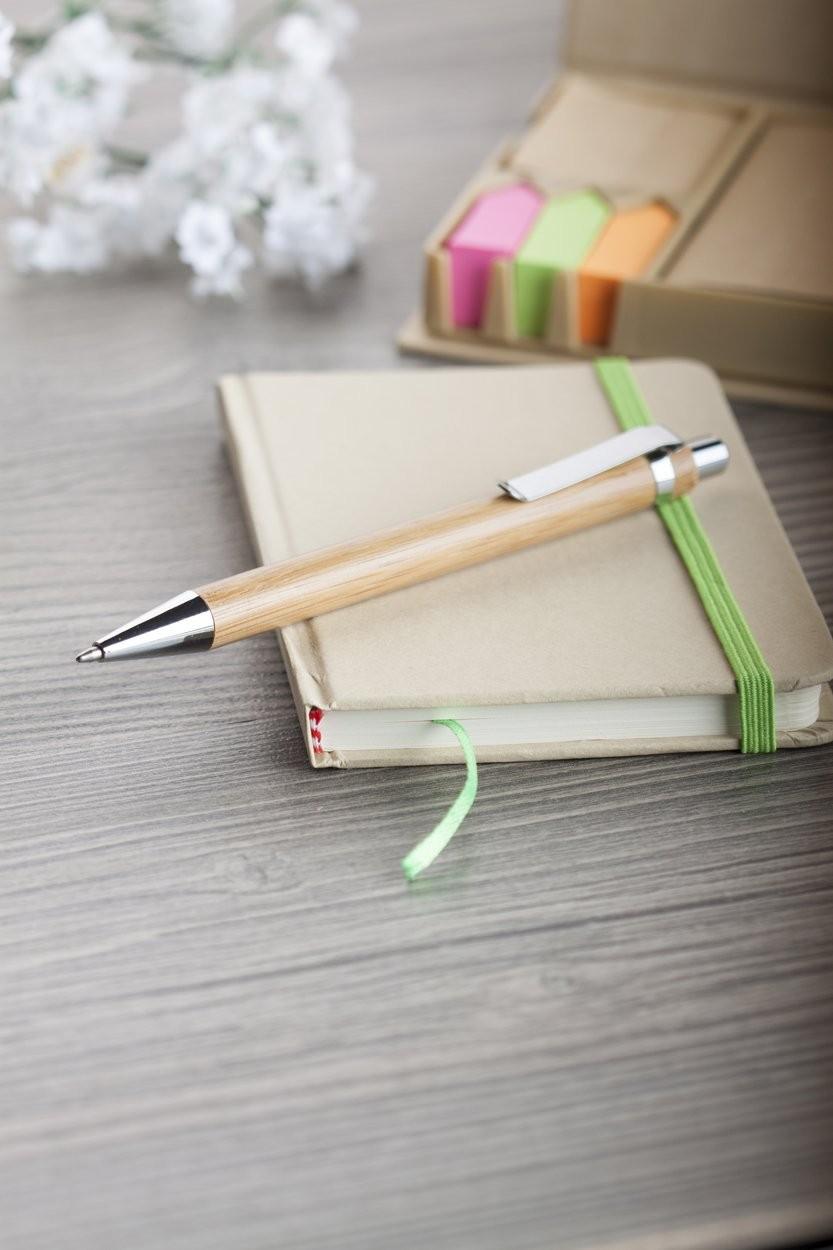 Kugelschreiber aus Bambusmaterial Bashania, Ansicht 2