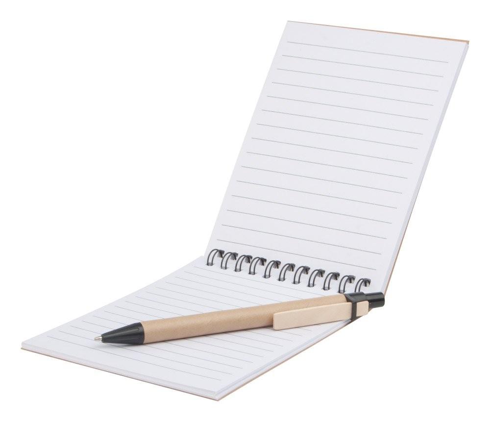 Notizheft mit Kugelschreiber Concern