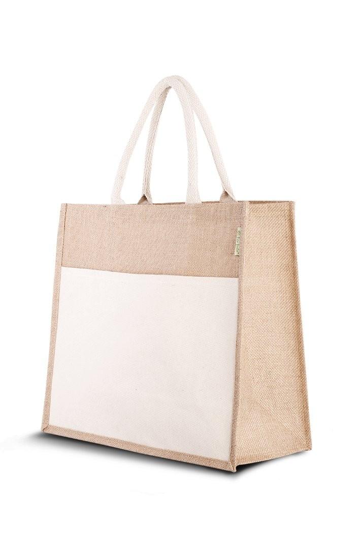 Jute (Strand)Tasche Combi