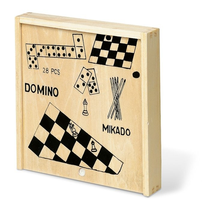 Spielesammlung in Holzbox TRIKES, Ansicht 2
