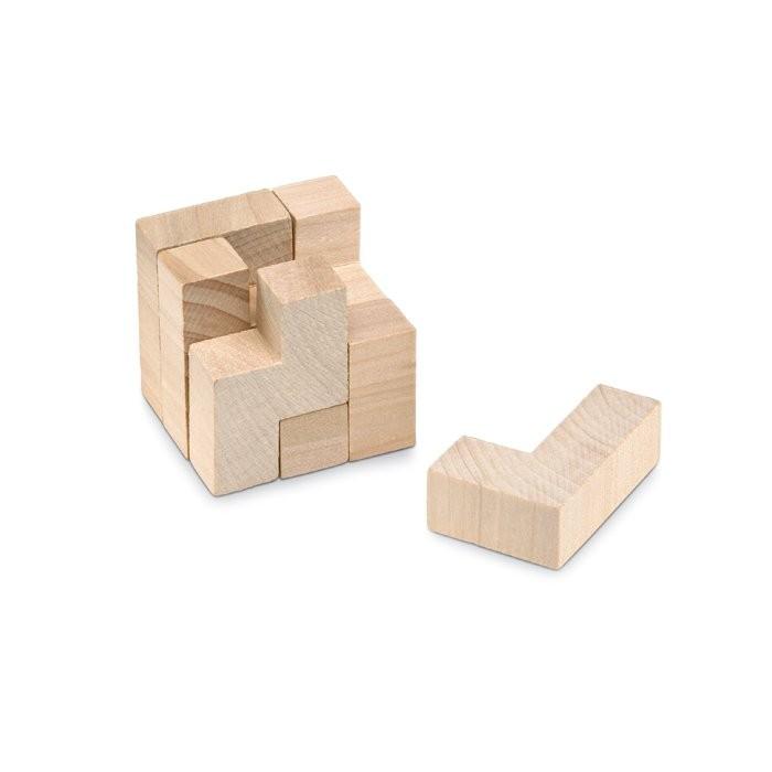 Holzpuzzle im Baumwollbeutel TRIKESNATS, Ansicht 2
