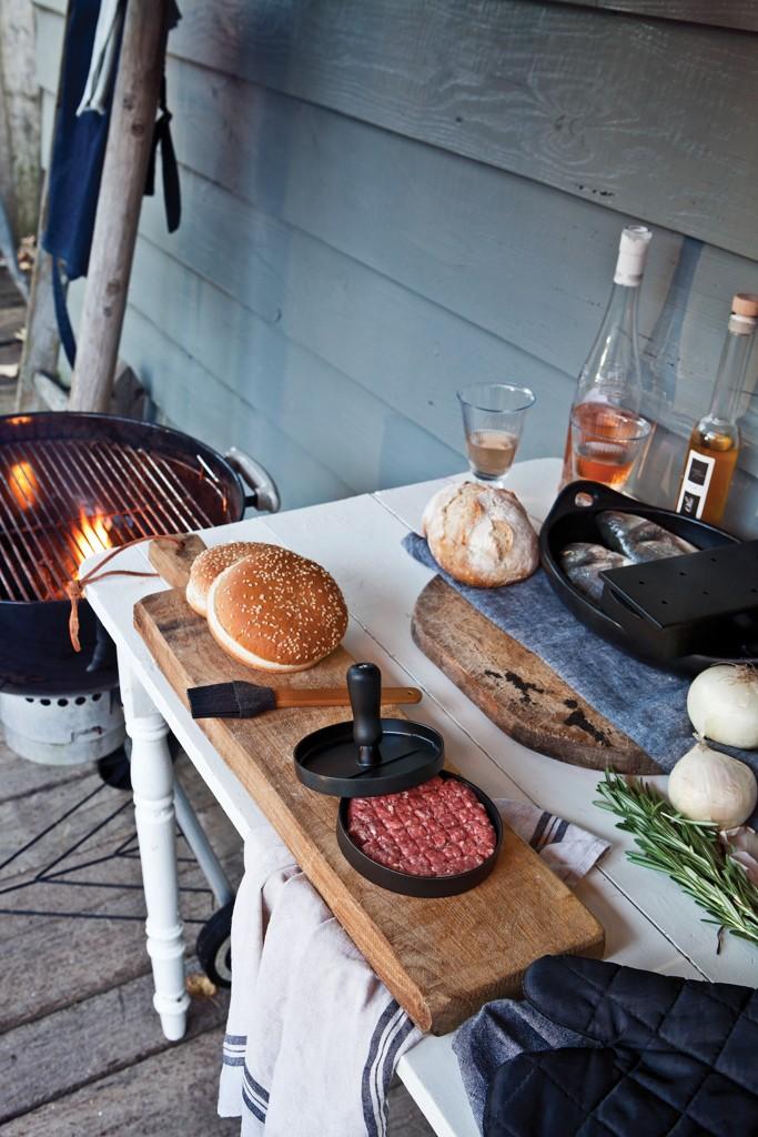 Grillset mit Hamburgerpresse und Marinadenpinsel, Ansicht 10