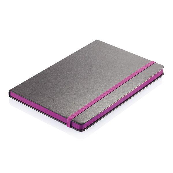 A5 Notizbuch mit farbigem Seitenrand, Ansicht 2