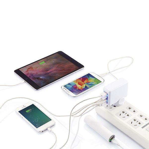 Reiseadapter mit 4fachem USB Anschluss, Ansicht 6