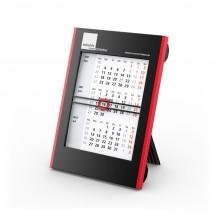 Tisch-Monatskalender Roll-Up 3 Complete - schwarz-rot