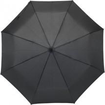 Regenschirm Piet aus Pongee-Seide - Schwarz