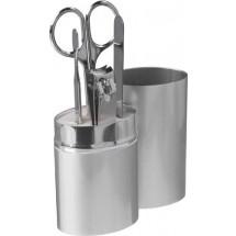 Manikürset im Metalletui, 4 tlg. - Silber