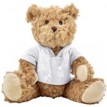"""Plüsch-Teddybär """"Olaf"""" mit aufgestickten Augen - Weiß"""