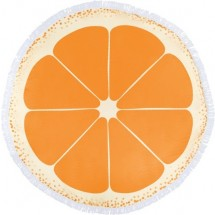 Strandhandtuch Barca aus Mikrofaser (160 g/m²) - Orange