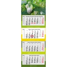 Mehrblock-Monatskalender Profil 4 - hellgrau
