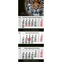 Mehrblock-Monatskalender Maxi 3 Post Complete - hellgrau