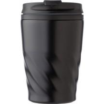 Kaffeebecher Curly aus Edelstahl - Schwarz