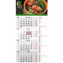Einblatt-Monatskalender Konzept 4 Post Complete - hellgrau