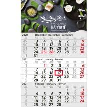 Einblatt-Monatskalender Budget 3 C - hellgrau