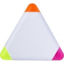 """Textmarker """"Triangle"""" aus Kunststoff - Weiß"""